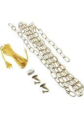 Replacement Oil Rain Lamp Chain- 12 Foot Chain-15 Foot Cable With Switch And Hooks