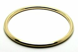 9ct 9kt Full Solid Heavy Yellow Gold 4mm Wide Golf Bangle 65mm Inside Diameter