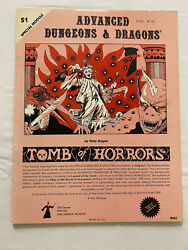 Tomb Of Horros S1 First Print Dungeons And Dragons Tsr