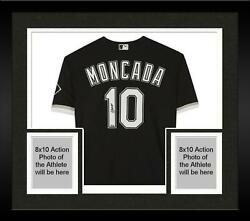 Framed Yoan Moncada Chicago White Sox Autographed Black Nike Authentic Jersey
