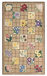 Antique American Hooked Rug 5and0396 X 3and0399