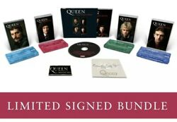 Queen Greatest Hits Signed Cd, Cassette Set And Badge Bundle | Free Fast Pandp 📦