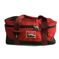 Marlboro Unlimited Gear Insulated Bag Cooler Red Collapsible Zip 1990 Vintage