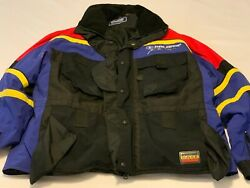 Polaris Pure Racing Black Red Blue Insulated Men Heavy Jacket Coat Size X Large