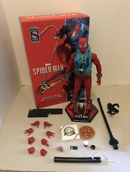 Spider-man Scarlet Spider 1/6 Hot Toys Sideshow Toy Fair Exclusive Pre-owned