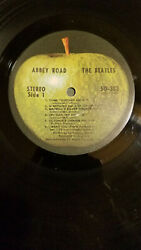 Beatles Abbey Road Lp Rare 1969 Early Label Press W/o Her Majesty W Shrink
