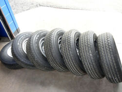 Power King Towmax Str St235/80r16 Tires On Steel Wheels For Trailer - Qty.7