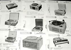 Lot 9 Aircastle, Airline Record Player Photofact Pam-4, 652 A35 358vm 06 101 472