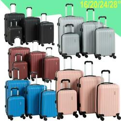 4 Pieces Travel Spinner Luggage Set Bag Abs Trolley Carry On Suitcase W/tsa Lock
