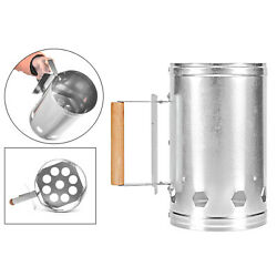 Barbecue Chimney Starter Steel Rapid Fire Lighter Stove Picnic Tool Compact