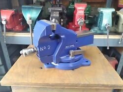 Restored Vintage Record No 2 Bench Vise 3 1/2 Jaw 27 Lbs England