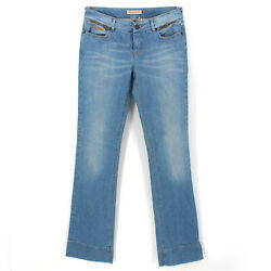 See By Chloé Light Wash Bootleg Low Waist Zip-fly Blue Jeans Size 29 Medium M