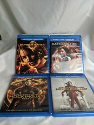 The Hunger Games 4-movie Collection Blu-ray Lot