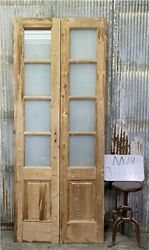 8 Pane French Glass Doors, Antique French Double Doors, Old Wood Doors, M14