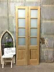 8 Pane French Glass Doors, Antique French Double Doors, Old Wood Doors, M4
