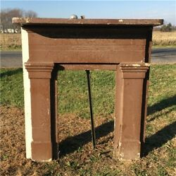 Antique Wood Fireplace Mantel Suround Architectural Salvage Victorian Rustic A22