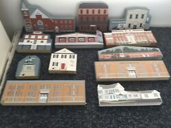 Cats Meow / Hometown Collectibles All Delaware  - Lot Of 12- Vintage Buildings