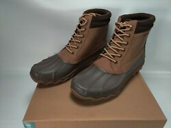New Sperry Brewster Waterproof Brown Leather Duck Boots Mens Sz 11.5m Sts14140