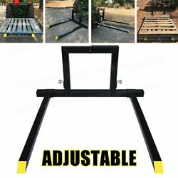3 Point Hitch W/ Adjustable Pallet Fork 1500 Lbs Attachments Tractor Category 1