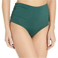 Anne Cole Womenand039s High Waist To Fold Over Eucalyptues Green Size X-small Gkgx