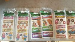 6 Sheets Nip Vintage Bubble Yum Gum And Life Savers Scratch And Sniff Sticker Nos