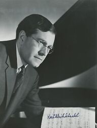 Karl Ulrich Schnabel Signed Photograph Piano Pianist