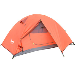 Desert And Fox Backpacking Camping Tent Lightweight Double Layer Waterproof Tent