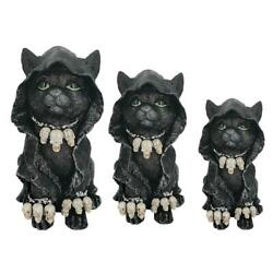 Resin Black Cat For Home Party Decoration Frog Ornaments Outdoor Statues