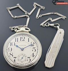 Vintage 1912 Howard Grade Series 5 With Chain And Knife Gold Filled Pocket Watch