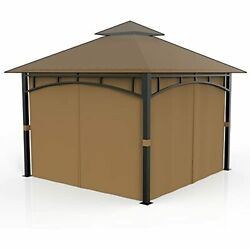 Gazebo Privacy Curtains Side Wall 4-panels Universal Replacement For 10' X 12'