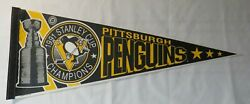 1991 Pittsburgh Penguins Nhl Stanley Cup Champs Hockey Pennant
