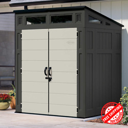 Suncast 6' X 5' Modern Outdoor Storage Shed 200 Cu. Ft. Of Storage Capacity New