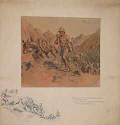 The Mountain Gunner By Snaffles Original Pencil Signed And Embossed Print 1937