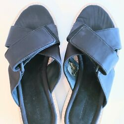 James Perse Los Angeles Size 8 Touch Strap Slide Leather Slip On Sandals New