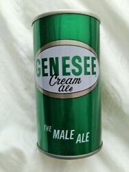 12oz Genesee Cream Ale The Male Ale Steel Pull Tab Beer Can Rochester New York