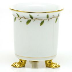Herend Porcelain Handpainted Rothschild Garden Claw Footed Cache Pot