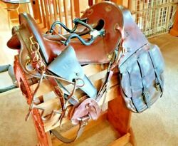 1917 Mcclellan Artillery Saddle Ww1 Equestrian Military Saddle Bags And Bits