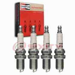 4 Pc Champion Intake Side Platinum Spark Plugs For 1984-1989 Nissan Stanza Is