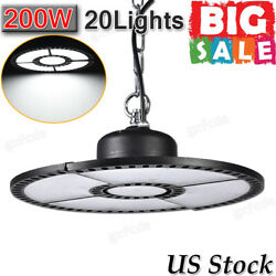 20x 200w Ufo Led High Bay Light Deformable Industrial Warehouse Shop Chain Lamp