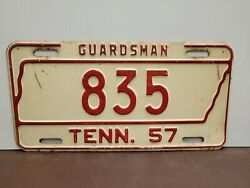 1957 Tennessee Guardsman  License Plate Tag
