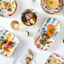Colourful Fish Beautiful Dishes Dinner Plates Baking Tray Dinnerware Tableware