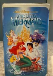 The Little Mermaid Disney Vhs Out Of Print Banned Cover Art Black Diamond