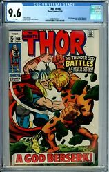 Thor 166 Cgc 9.6 Wp 2nd Warlock Battle Issue New Cgc Case Silver Age Marvel 1969