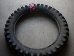 Nos Vintage Avon New Gripster Knobby Tire 4.00 X 19 Made In England Ajs Bsa