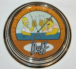 The Simpsons Homer And Barney Duff Beer Wall Clock Illuminated Animated Rare 2002