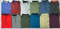 Menand039s Under Armour Cold Gear 1/4 Quarter Zip Fleece Lined Jacket