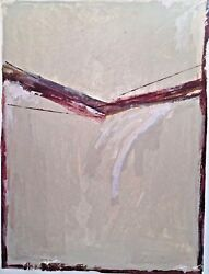 1981 Suzanne West Ally Abstract Modernist Mixed Media Colorist Painting Harry