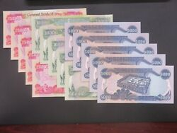 200000 Iraqi Dinar - Five Each Uncirculated 25000 10000 And 5000 Iqd Notes