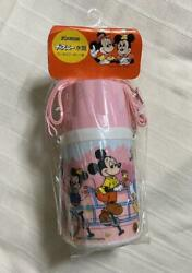 Vintage Disney Mickey And His Friends Pink Water Bottle Thermos Zojirushi Japan