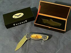 Falkner Chocolate Lab Folding Knife Collector's Edition With Box